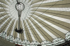 Futuristic roof at Sony Center Stock Image