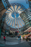 Futuristic roof at Sony Center, Potsdamer Platz, Berlin, Germany Royalty Free Stock Photo