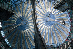 Futuristic roof at Sony Center, Potsdamer Platz, Berlin, Germany Royalty Free Stock Photography