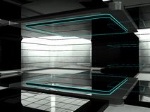 Futuristic room. A room in a futuristic science laboratory Stock Photo