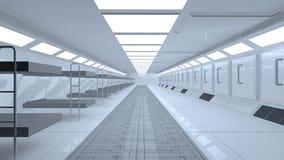 Futuristic room Royalty Free Stock Photos