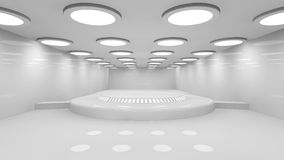 Futuristic room Stock Photography