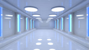 Futuristic room Royalty Free Stock Image