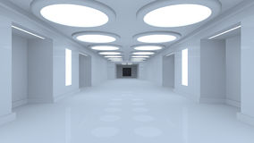 Futuristic room Stock Images