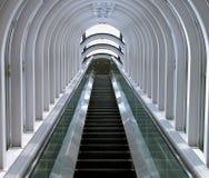 futuristic rulltrappa Fotografering för Bildbyråer