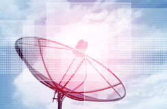 Futuristic Satellite Dish background Royalty Free Stock Photography