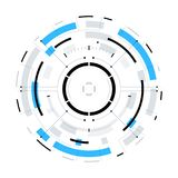 Futuristic Sci-Fi Circular HUD Element. Futuristic Sci-Fi HUD User Interface Circle Element Virtual Reality Design. Abstract Background. EPS 10 Royalty Free Stock Photo