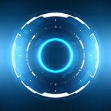 Futuristic Sci-Fi Circular HUD Element. Futuristic Sci-Fi HUD User Interface Circle Element Virtual Reality Design. Abstract Background. EPS 10 Stock Photography