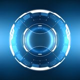 Futuristic Sci-Fi Circular HUD Element. Futuristic Sci-Fi HUD User Interface Circle Element Virtual Reality Design. Abstract Background. EPS 10 royalty free illustration