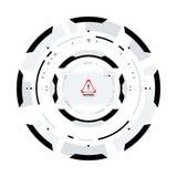Futuristic Sci-Fi Circular HUD Element stock illustration
