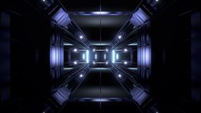 Futuristic science-fiction tunnel corridor 3d illustration vjloop background