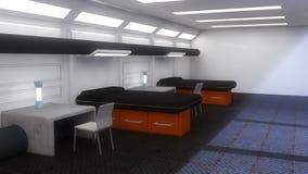 Futuristic Scifi interior architecture. 3d Futuristic Scifi interior architecture Royalty Free Stock Photos