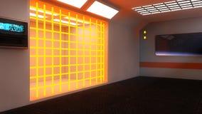 Futuristic Scifi interior architecture Stock Photos