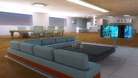 Futuristic Scifi interior architecture Royalty Free Stock Photo