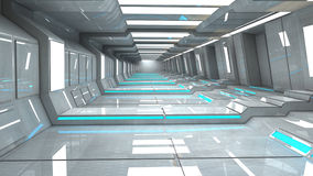 Futuristic SCIFI interior Royalty Free Stock Image
