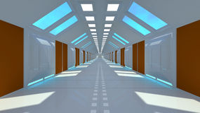 Futuristic SCIFI interior Stock Image
