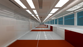 Futuristic SCIFI interior Royalty Free Stock Photography