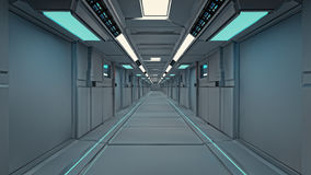 Futuristic SCIFI interior Stock Images