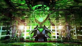 Futuristic SciFi Reactor. Futuristic science fiction type of reactor design. Creative illustration of a futuristic and detailed, imaginary reactor Royalty Free Stock Photo