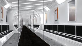 Futuristic scifi transport. 3d Futuristic scifi transport concept design Stock Photography