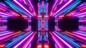 Futuristic scifi tunnel background 3d render stock illustration