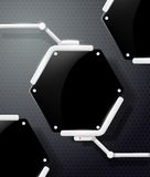 Futuristic screen honeycombs Royalty Free Stock Image
