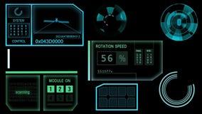 Futuristic screen, tracking
