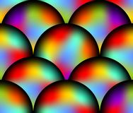 Futuristic seamless background with rainbow ball patterns Royalty Free Stock Images