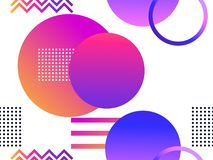 Futuristic seamless pattern with geometric shapes. Gradient with purple tones. Synthwave retro background. Retrowave. Vector. Illustration royalty free illustration