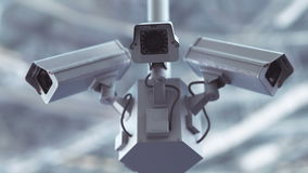Futuristic security cameras in 4K