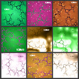 Futuristic set dna, abstract molecule Stock Images