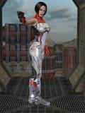 Futuristic sexy uniform Royalty Free Stock Image