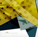 Futuristic shapes vector abstract background Royalty Free Stock Image