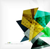 Futuristic shapes vector abstract background Royalty Free Stock Images