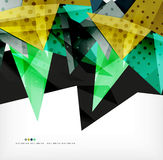 Futuristic shapes vector abstract background Royalty Free Stock Photos