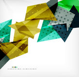 Futuristic shapes vector abstract background Stock Photos