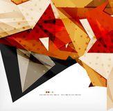 Futuristic shapes vector abstract background. 3d futuristic shapes vector abstract background made of glossy pieces with light effects and textured surfaces Stock Images