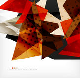 Futuristic shapes vector abstract background Stock Photography