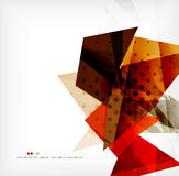 Futuristic shapes vector abstract background Stock Image