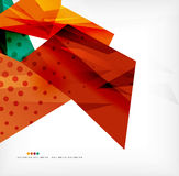 Futuristic shapes vector abstract background Royalty Free Stock Photography