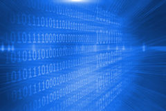 Futuristic shiny binary code Royalty Free Stock Photo