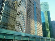 Futuristic Shiodome Sio-Site Stock Photos