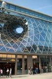 Futuristic shopping center stock photography