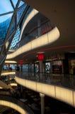 Futuristic shopping center in Frankfurt stock photo