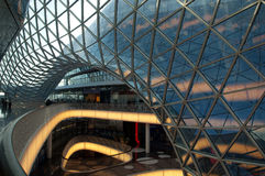 Futuristic shopping center in Frankfurt Stock Photo