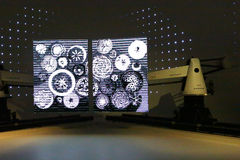 Futuristic show in Korean pavilion of Expo 2015 Royalty Free Stock Photo