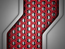 Futuristic Silver Red Industrial Background Royalty Free Stock Photography