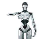 futuristic silverkvinna vektor illustrationer