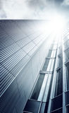 Futuristic skyscraper from below Stock Image