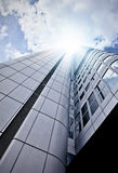Futuristic skyscraper from below Stock Photos